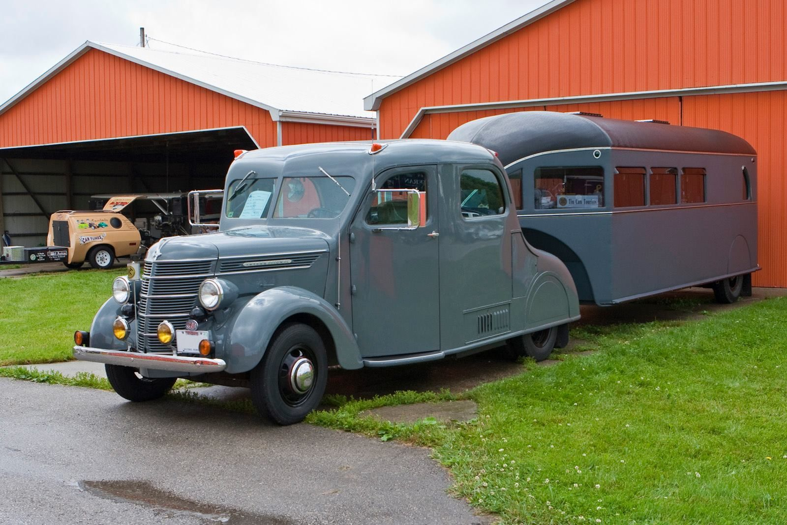1939 Ford Coe Cab Over Engine And A 193039s Curtiss Aerocar 1949 Truck 1936 Travel Trailer