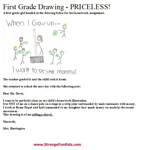 After Daughters St Grade Drawing  Mom Tells Teacher SheS Not A