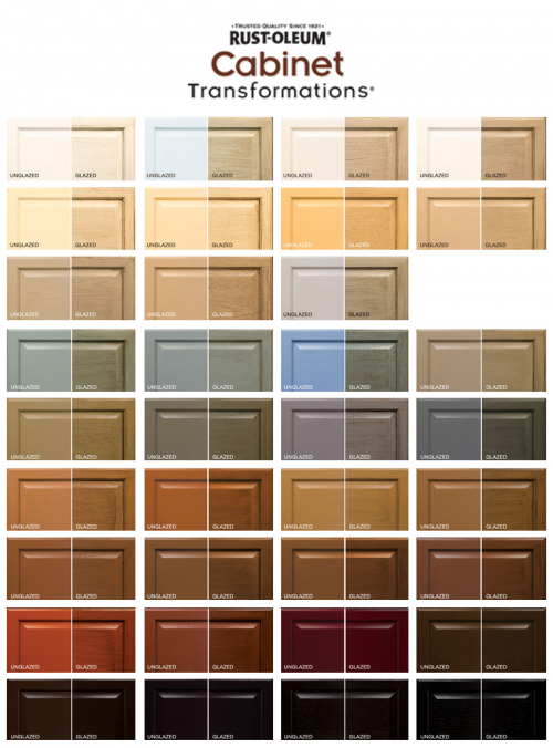 Cabinet Colors rust-oleum cabinet transformations color swatches both regular