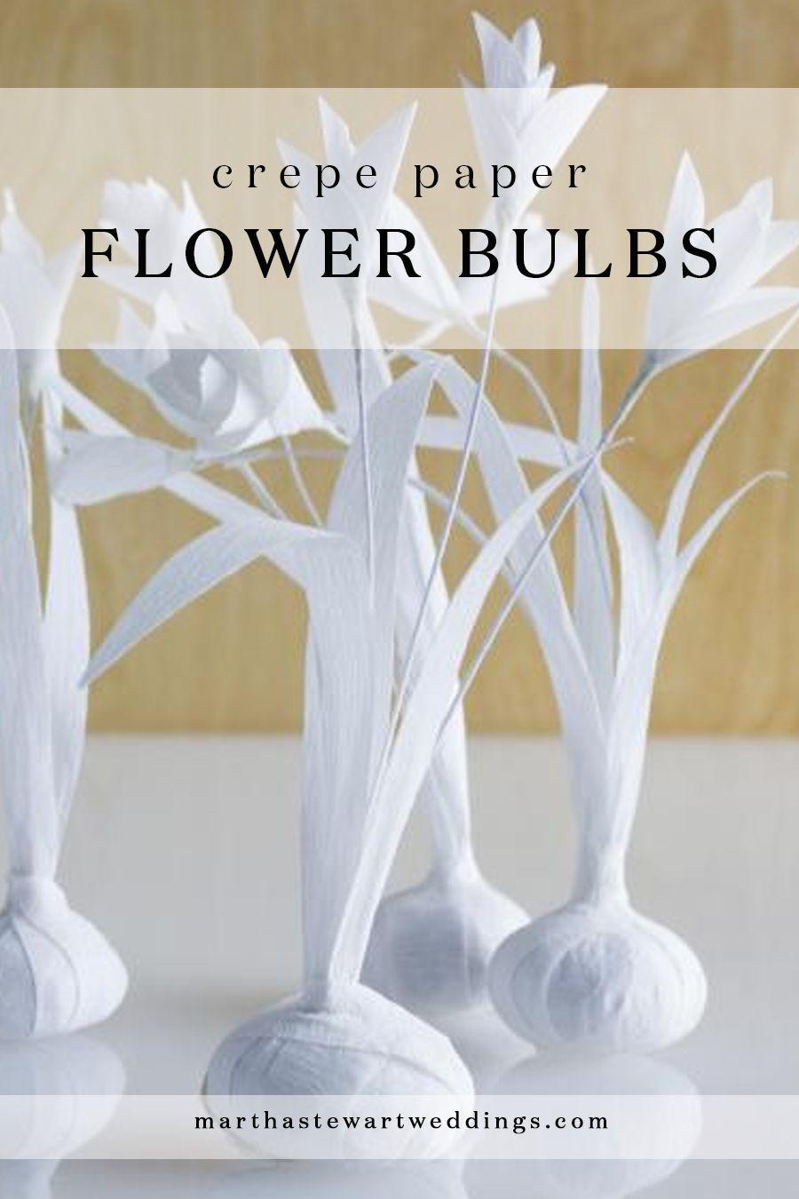Crepe Paper Flower Bulbs Martha Stewart Weddings Dimitra