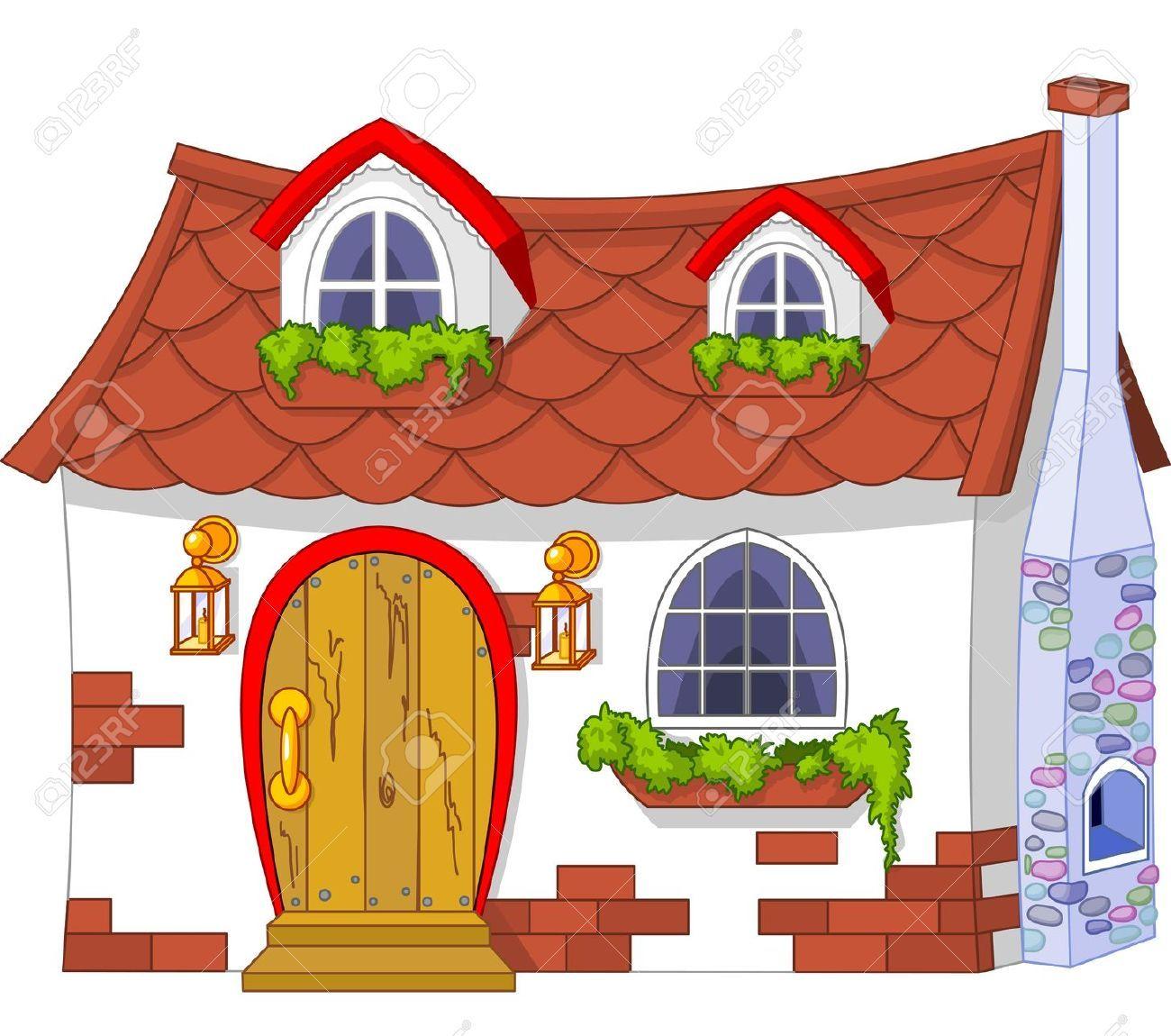 Illustration Of A Cute Little House Cute Little Houses Cute House Cartoon House