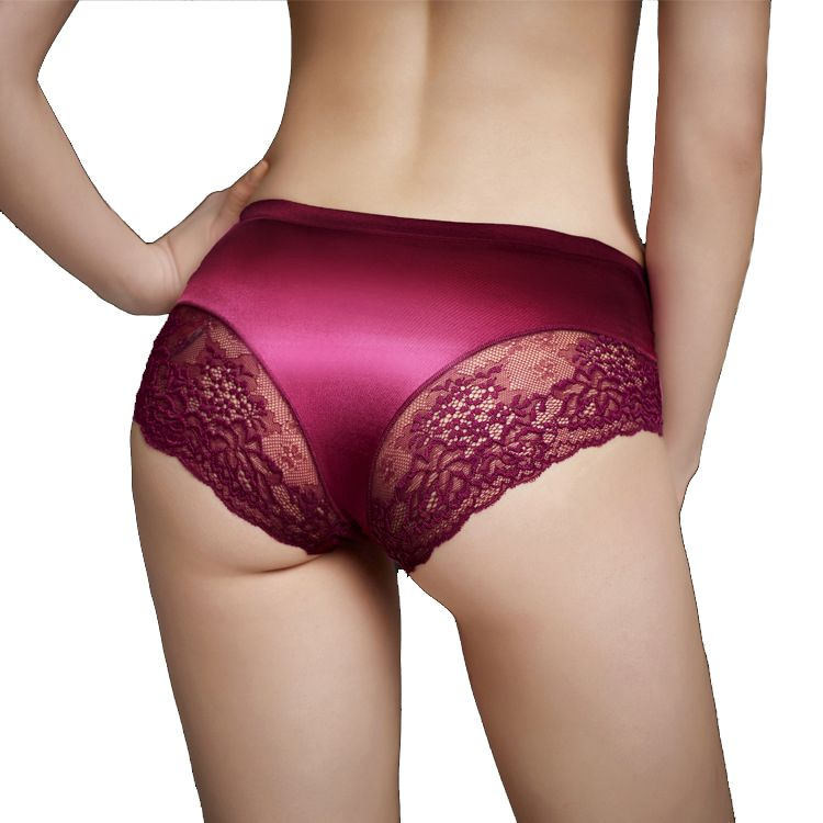 Authentic Guaranteed Luxury Pearlescent Silk Lace Sexy Underwear ...