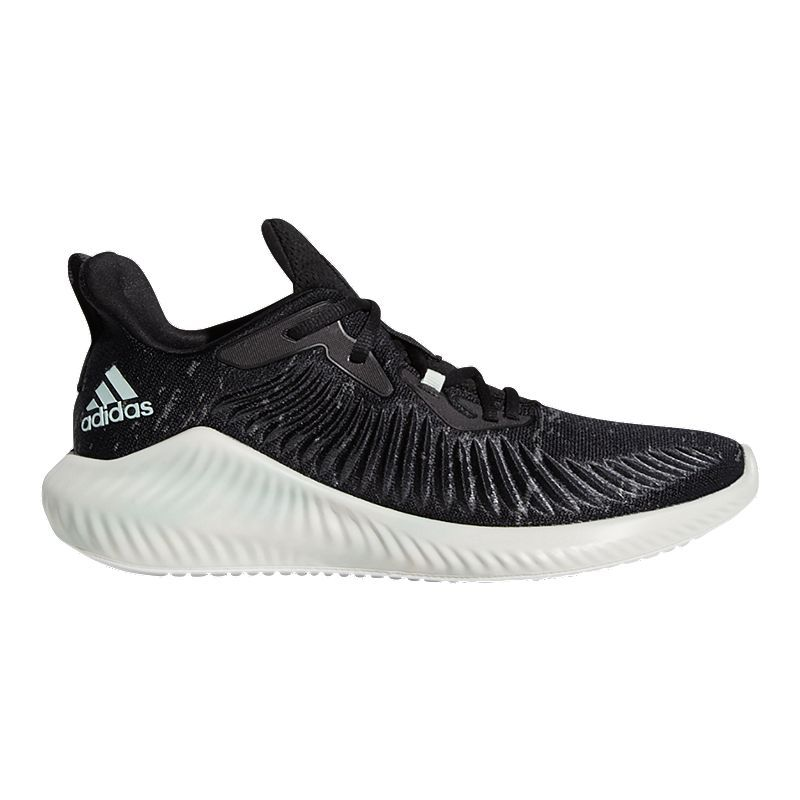 Adidas Men S Alpha Bounce Parley Running Shoes Black Green