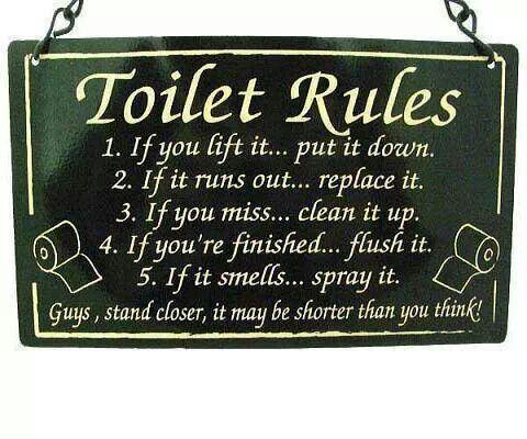 Toilet Rules Bathroom Etiquette Toilet Rules Bathroom
