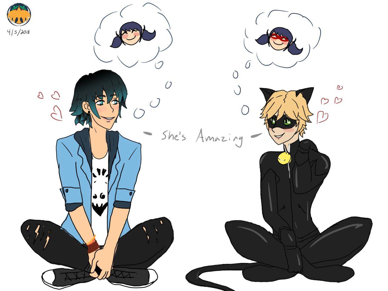 Face plam ladybug and cat noir miraculeux chat noir - Manga femme chat ...
