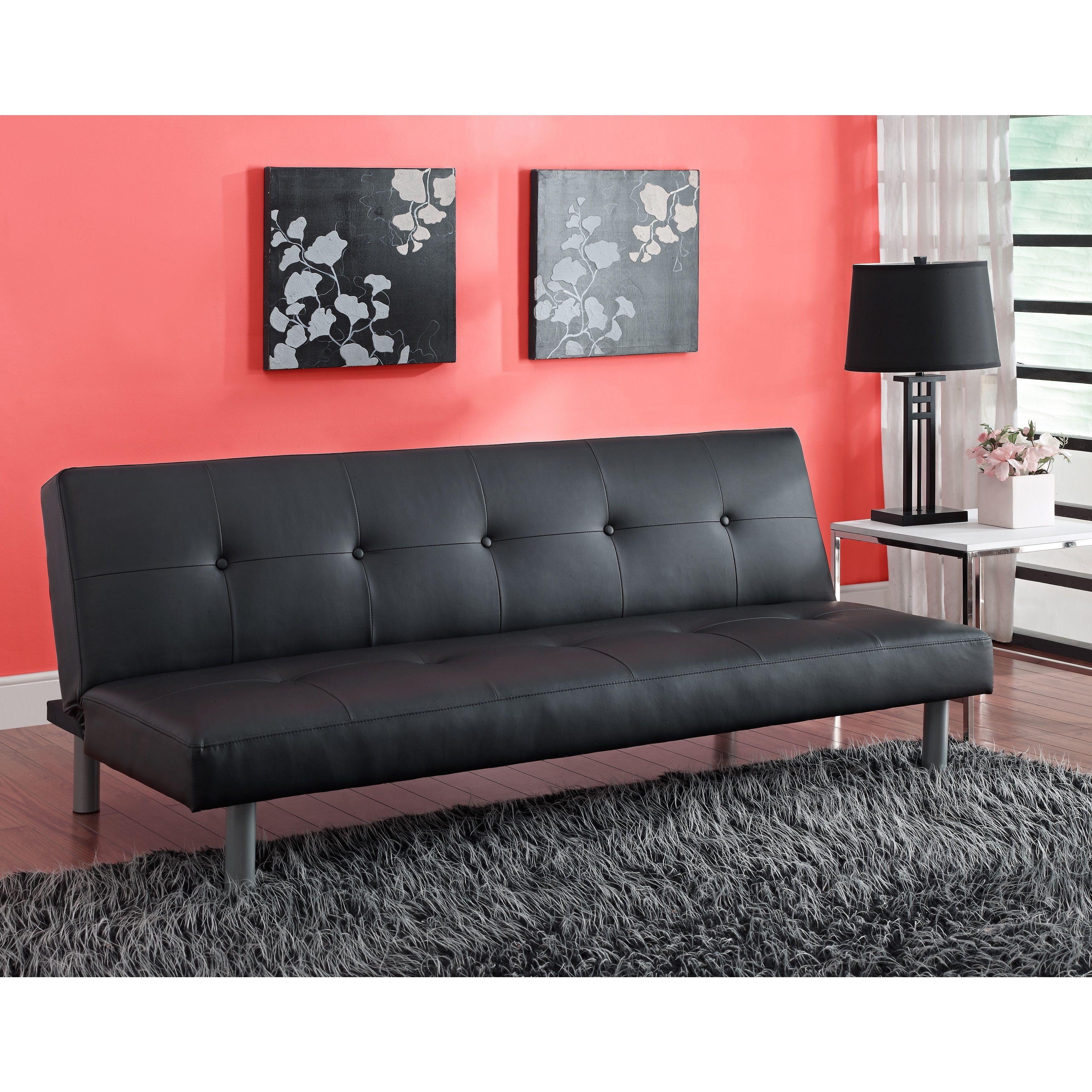 DHP Nola Futon Sofa Bed DHP Black