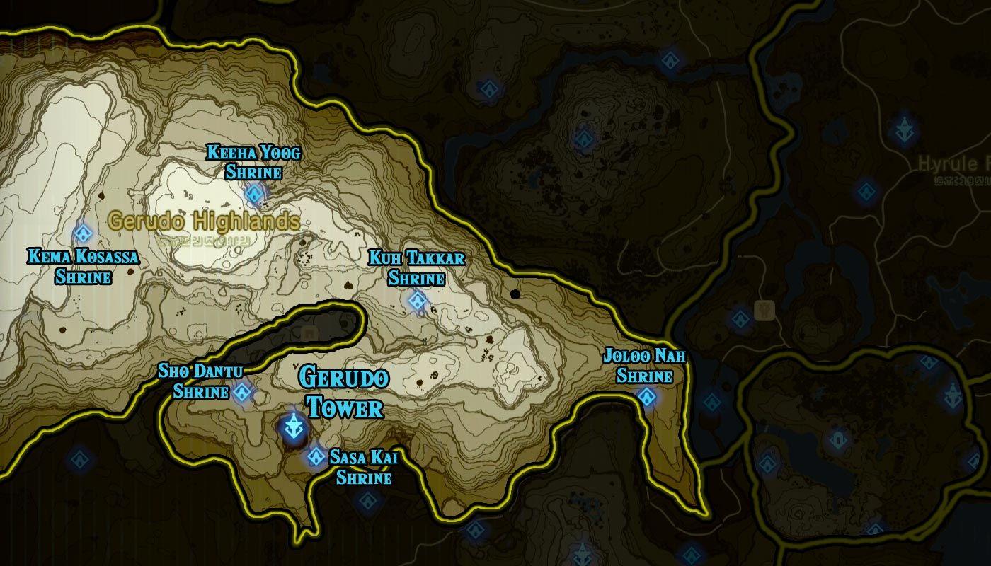 Lovely Zelda: Breath Of The Wild Shrine Maps And Locations    Polygonclockmenumore Arrownoyespoly Lt