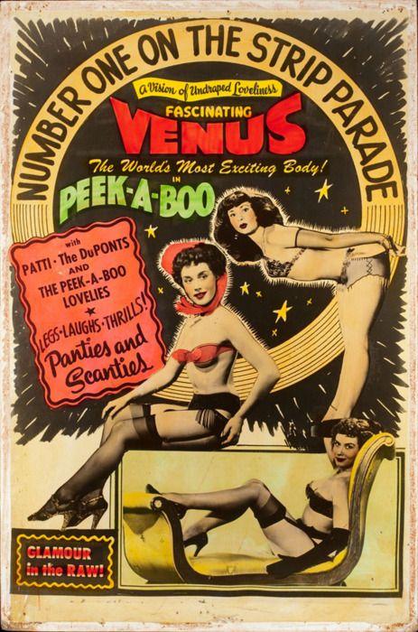 Vintage Burlesque Movie Poster. American Artist (20th Century)