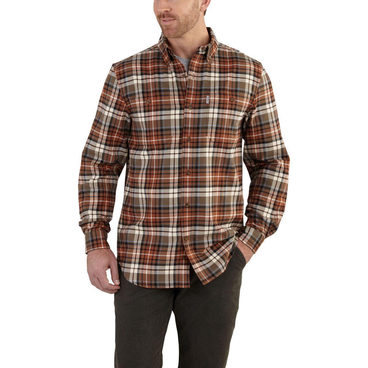 Flannel shirt knot  Trumbull Plaid Shirt  Carhartt and Plaid