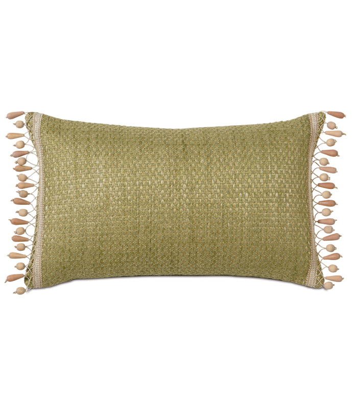 Eastern Accents Wades Green With Beaded Trim In 2020 Pillows Beaded Pillow Eastern Accents
