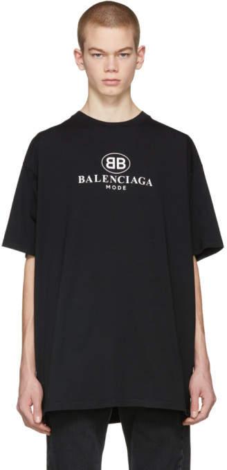 47d8db7e Balenciaga Black BB Mode T-Shirt   Products   Shirts, T shirt, Black