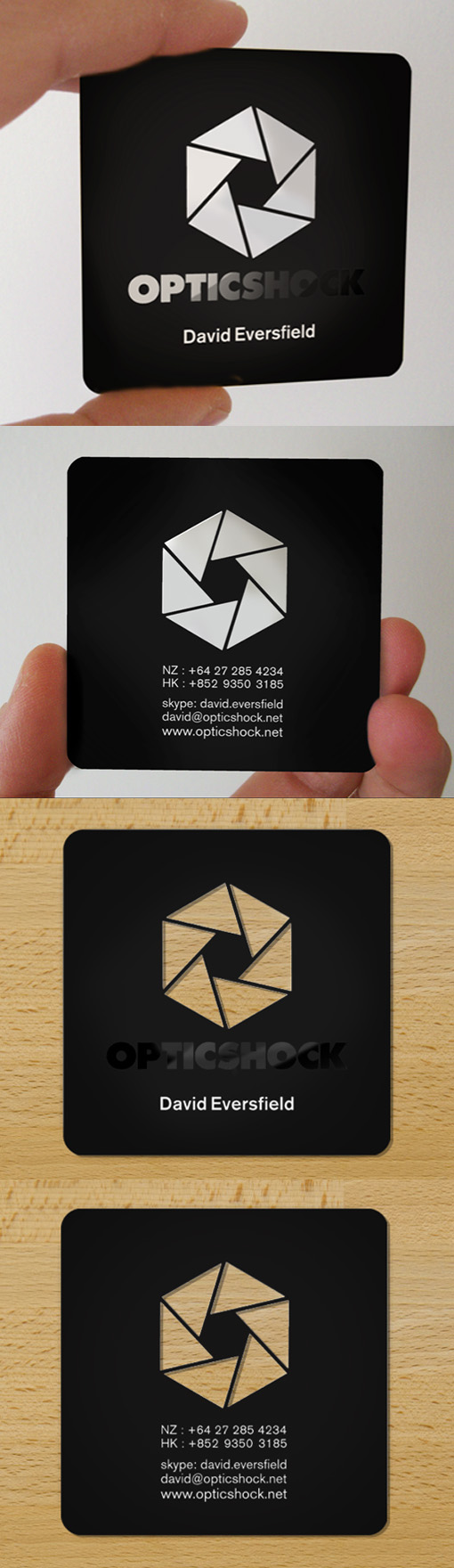 Slick Laser Cut Black Plastic Business Card Design | Graphic Design ...