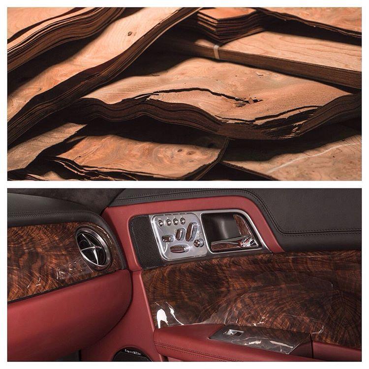 """Speedback GT's wood veneers are bookmatched from a single batch of veneers.  #SpeedbackGT #Wood #WoodVeneer #Craftsmanship #Handcraftsmanship #CarInterior…"""