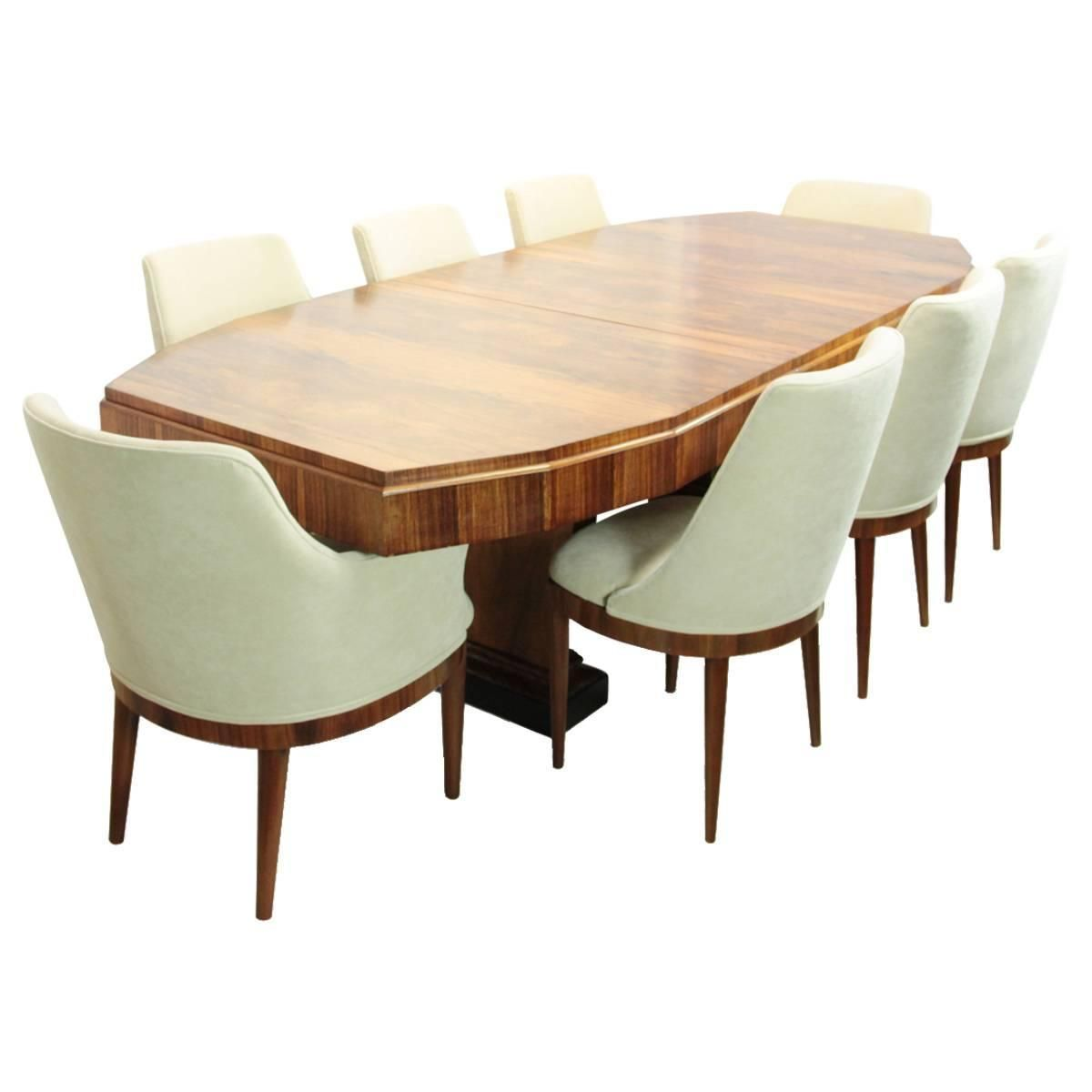 Art Deco Dining Table And Eight Chairs French Circa 1920 1stdibs Com Antique Dining Room Sets Dining Room Sets Art Deco Interior Design