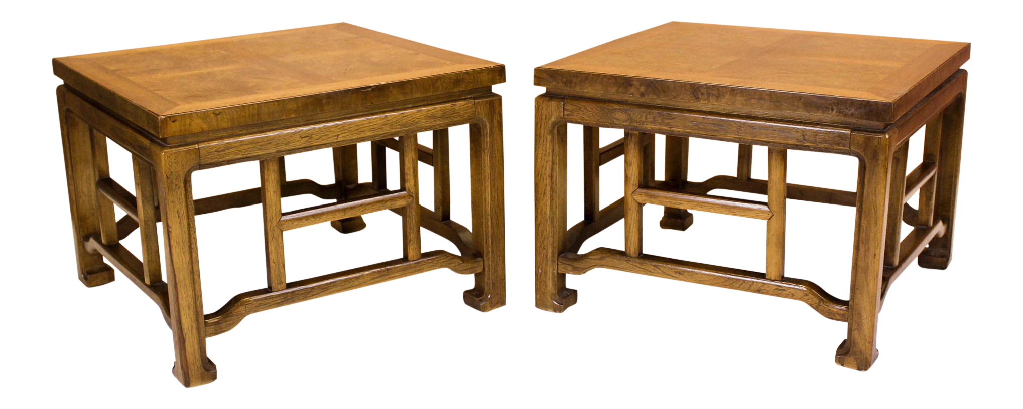 Asian style side tables a pair