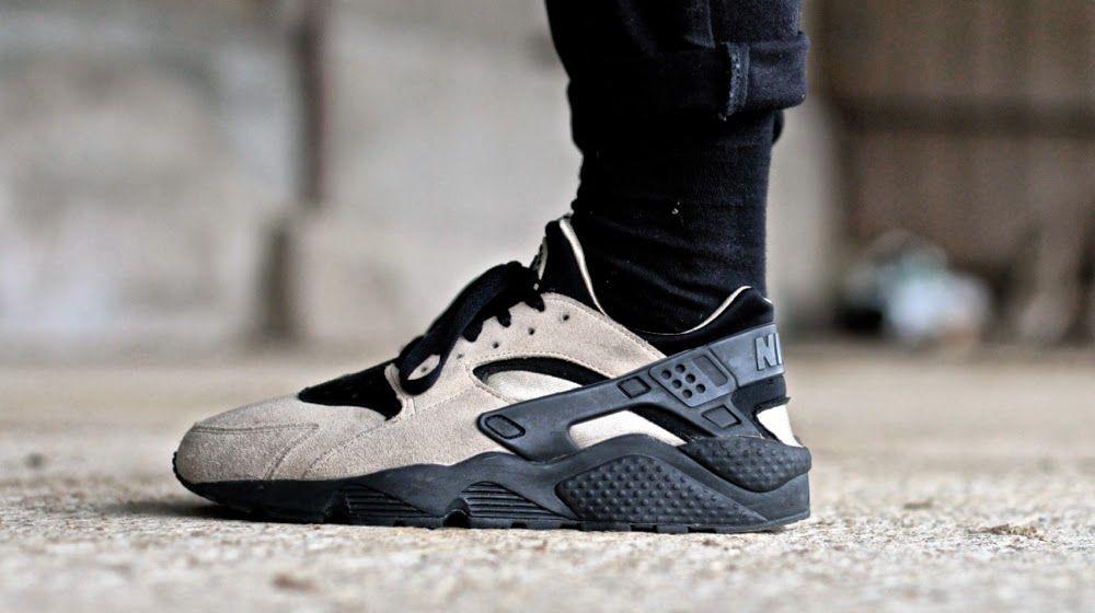 Nike Air Huarache Le Sand/Black #sneakers #menswear #fashion #streetstyle