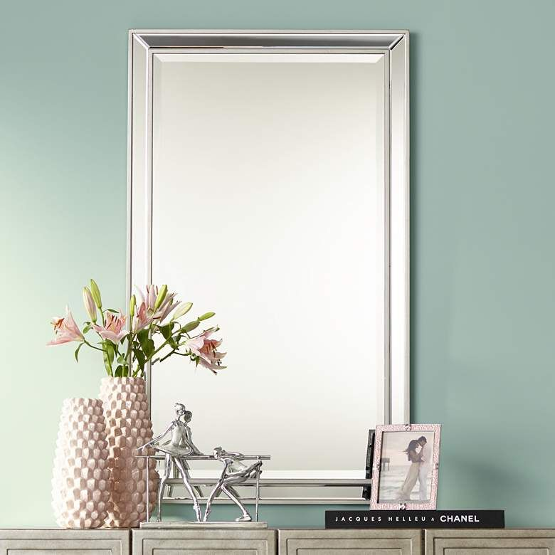 Helena Antique Silver 25 X 42 Rectangular Wall Mirror 47a99 Lamps Plus Mirror Wall Living Room Mirror Wall Bedroom Modern Mirror Wall #rectangular #wall #mirror #for #living #room