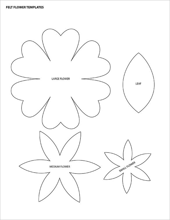 Pdf Vector Eps Free Premium Templates Felt Flower Template Flower Petal Template Felt Flowers Patterns