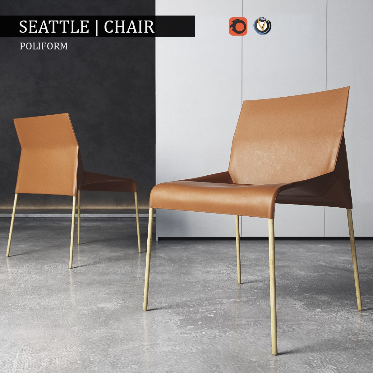 Chair Poliform Seattle | 3D model