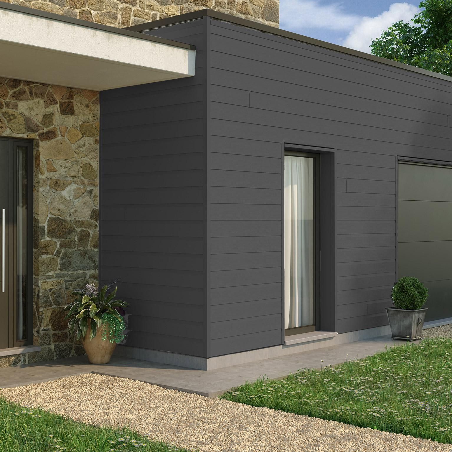 Clin Pour Bardage Anthracite Freefoam Solid Country 3 95 M En 2020 Bardage Gris Bardage Bardage Facade
