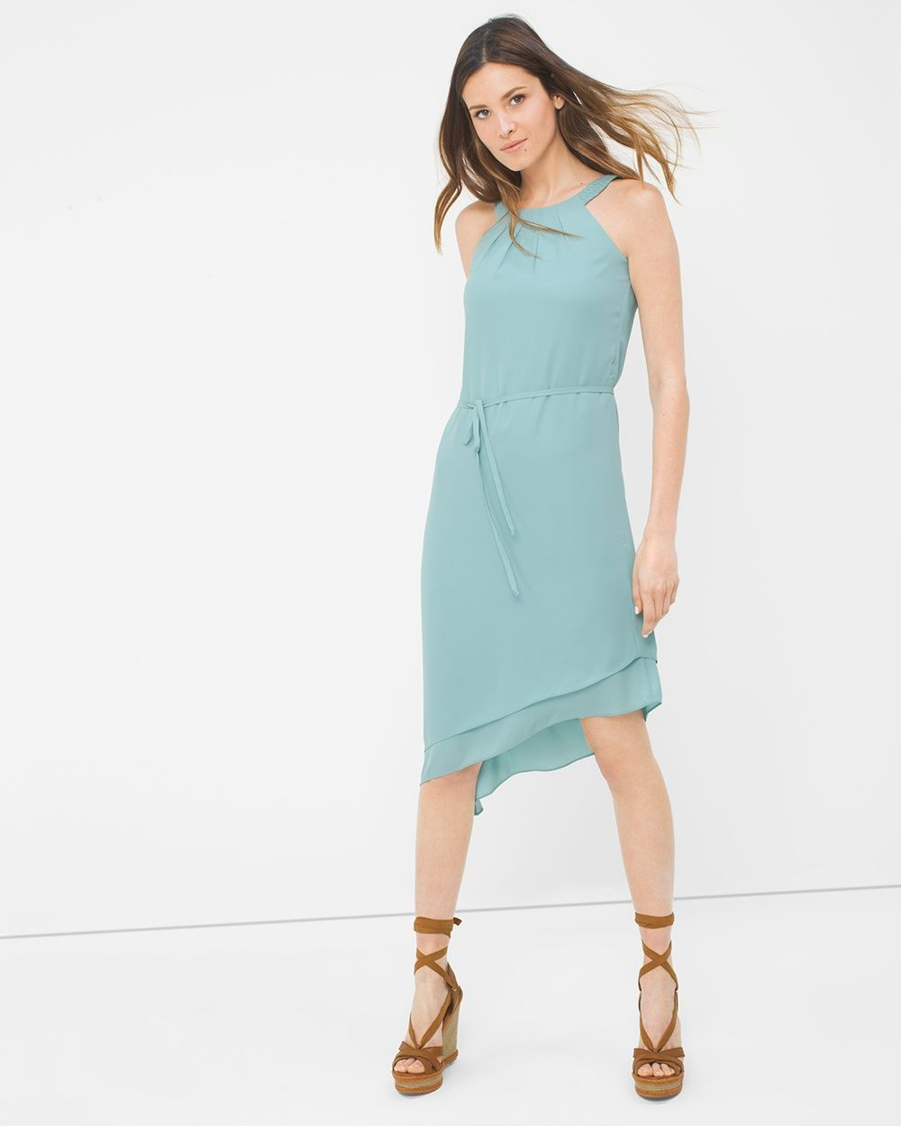 Halter asymmetric soft dress products pinterest products