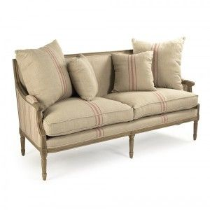 Awesome French Louis Red Striped Sofa   Provence Chic #provencechic,  #sofasandsettees