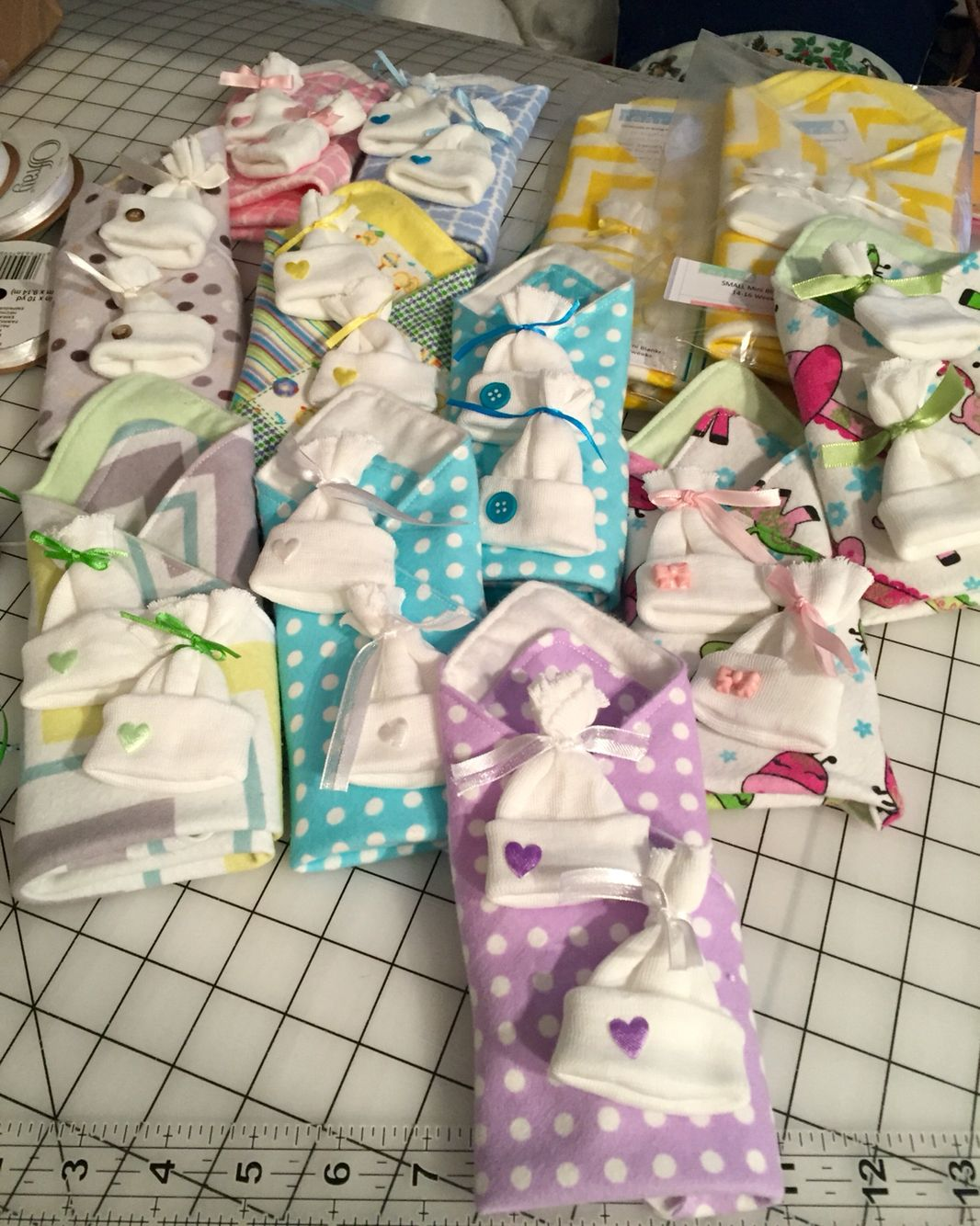 Some of the mini blankets I sent out