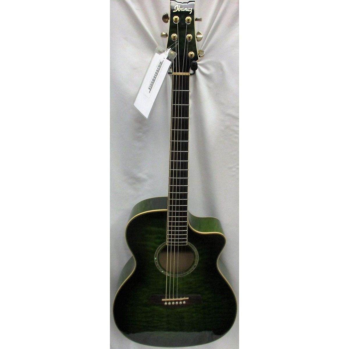 Used Ibanez A300e Acoustic Electric Guitar Emerald Green Guitar Center Acoustic Electric Guitar Acoustic Electric Guitar