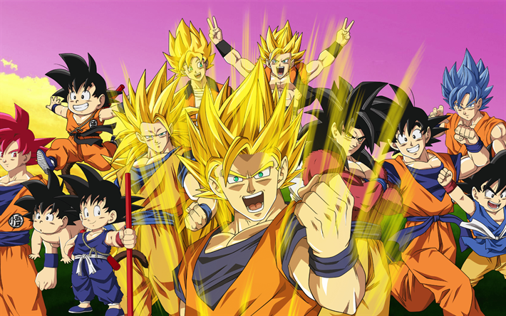 Download Wallpapers 4k Son Goku All Characters Dbz Dragon Ball