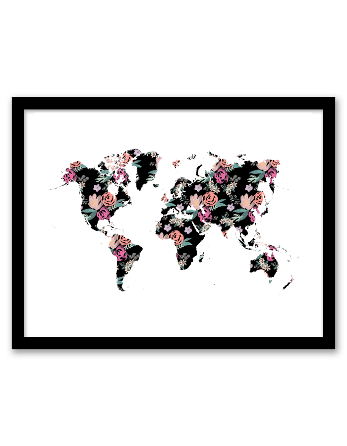 floral world wall art free printable wall art from is part of Free wall art - Floral World Wall Art  Free Printable Wall Art from Wallart Tumblr