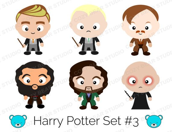 Harry Potter Clipart Instant Download By Cozybearstudio On Etsy Harry Potter Clipart Harry Potter Theme Potter