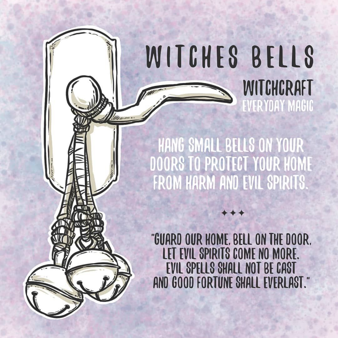 """☽ Brighid Moondust ☾ on Instagram: """"Witchy Tips ✨ Witches Bells - Tip & Spell found, not written by me. Artwork by me. - #wicca #witchcraft #paganism #witchesofinstagram…"""" #modernwitch"""