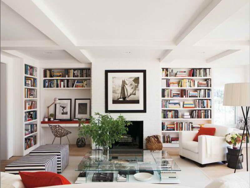 Bookshelves Living Room Kaisoca