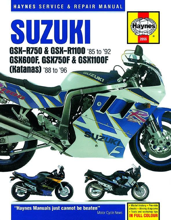 Haynes M2055 Repair Manual for 1986-96 Suzuki GSX Models