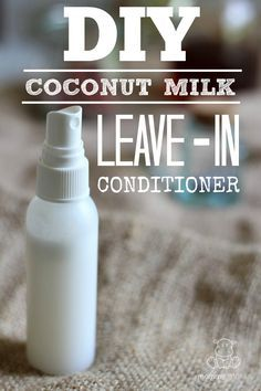 Coconut is the Swiss Army Knife of beauty products. Its oil can be used to make all kinds of things including this great leave-in conditioner!