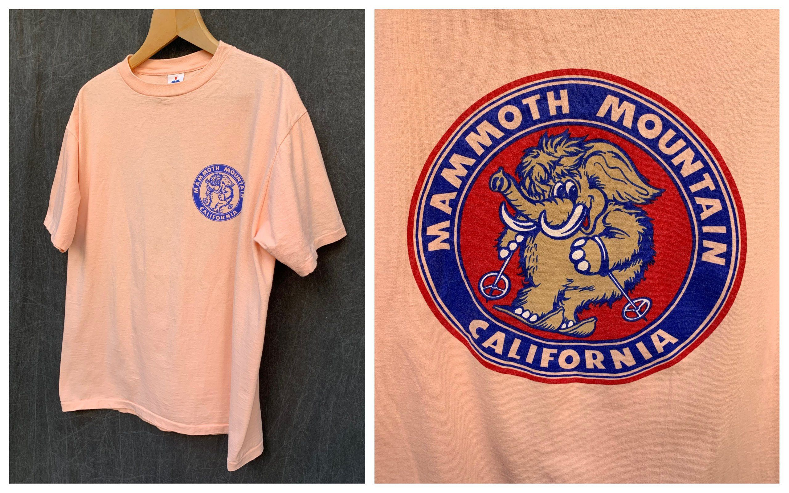 Vintage Mammoth Mountain California T Shirt Woolly Mammoth Skiing Ski Resort Miller Size Xl Mammoth Mountain Shirts Vintage Shorts [ 1600 x 2560 Pixel ]