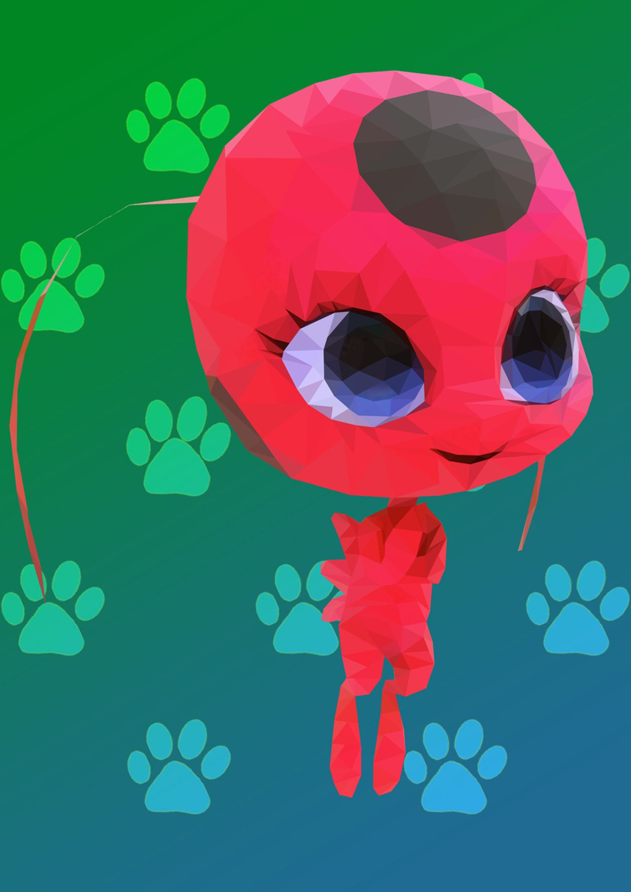 kittytish101:  Polygonal Tikki! This was a project for my CGA class, however I HAD to add a little extra. Im gonna go add gradients and see how it goes because I messed up with the averaging oops