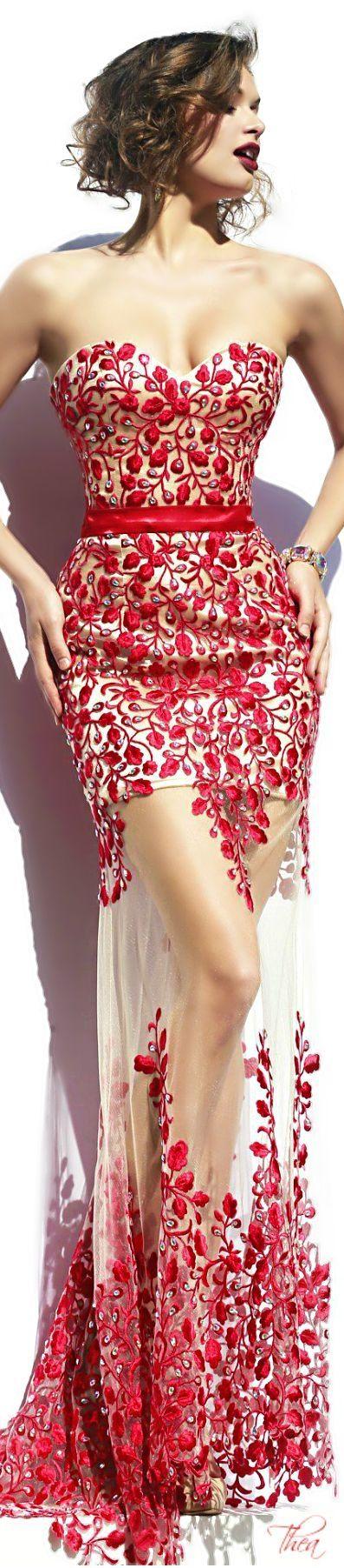 Sherri Hill   Cherry/Fuchsia   Pinterest   Vestiditos, Vestidos de ...