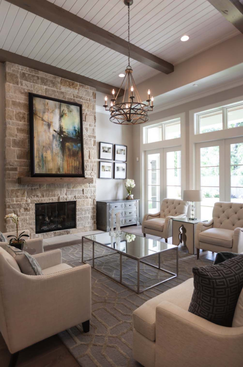 Transitional Interior Design Living Room: Gorgeous Woodlands Reserve Home Features Warm And Inviting
