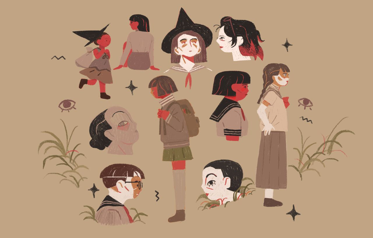 Well, this weekend was productive. - #color #crfa18 #girls #gobelins #illustration #japanese #magic #school #uniform #witches