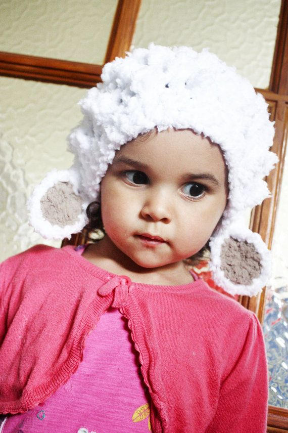 5T to Preteen Lamb Hat Childrens Animal Hat  Crochet by BabaMoon, $32.00