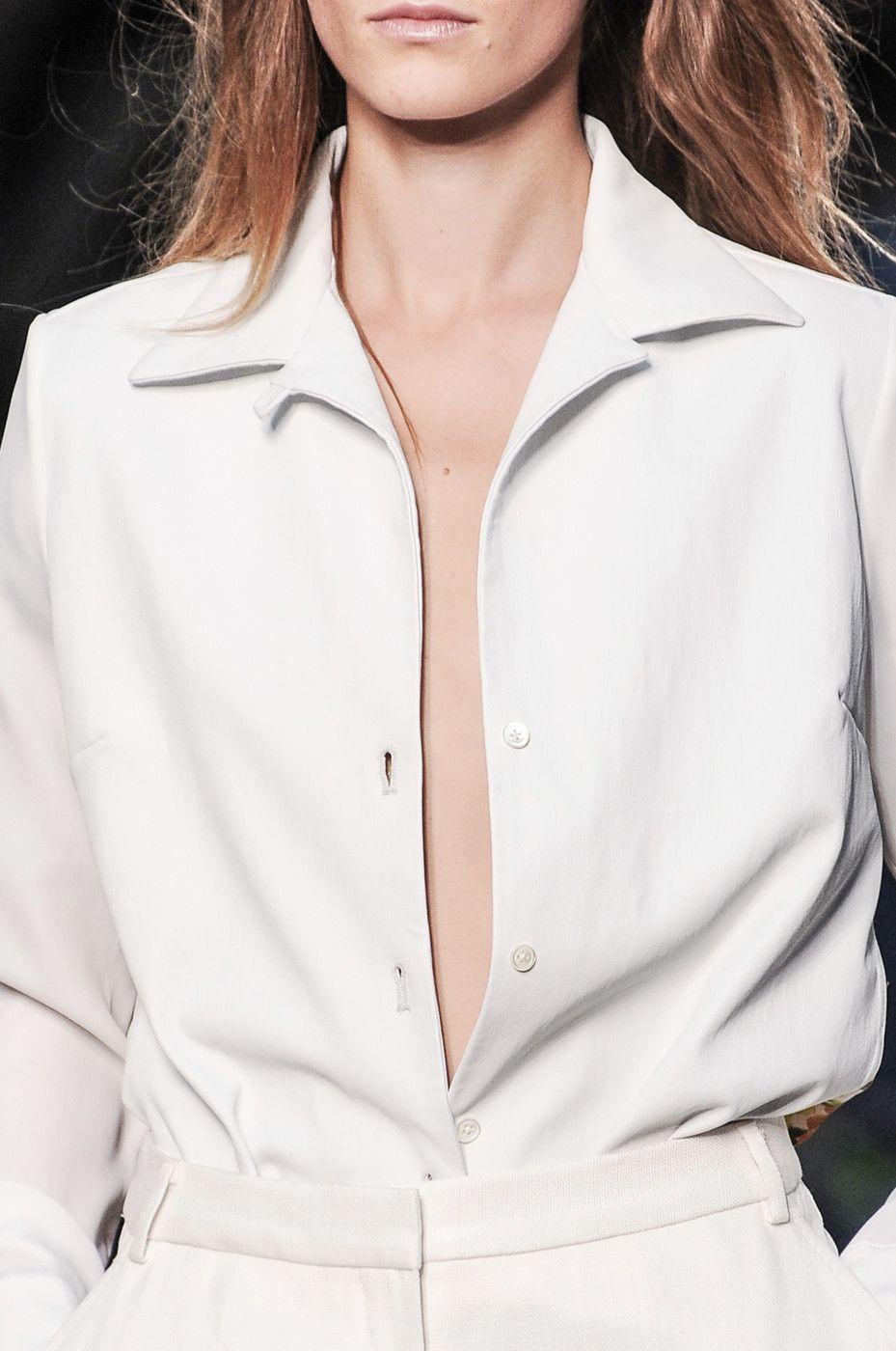 Paul Smith SS14 | Minimal + Chic | camisa escotada´+ blanco
