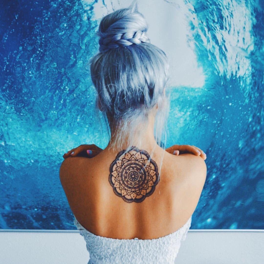 Mandala Tattoo Cabelos Estilosos Penteados Simples Para Meninas