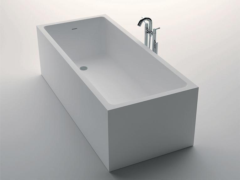Corian Design Badewanne freistehend, Mineralwerkstoff, Hi