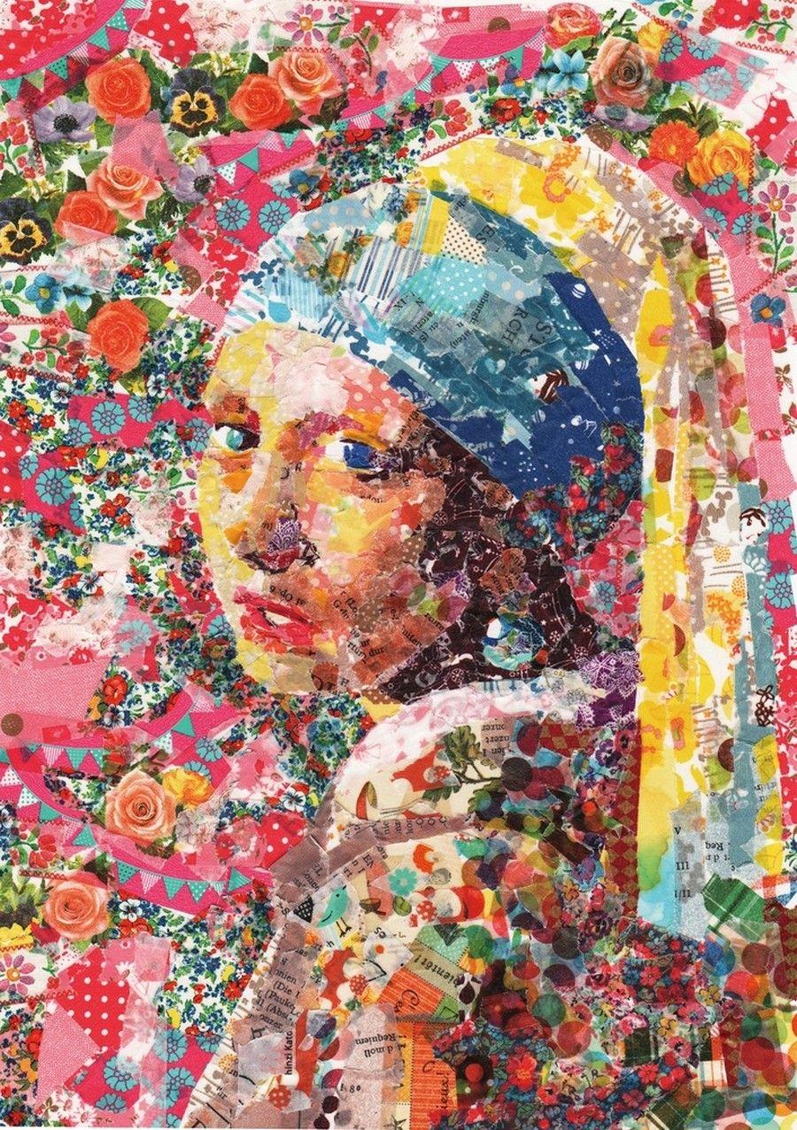 Nasa Funahara Masking Tape Painting Parels, Kunstwerk