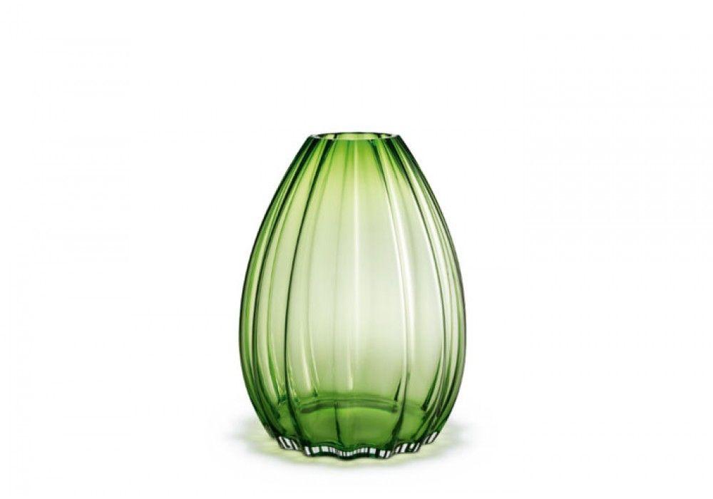 Holmegaard 2 Lips Vase grün, 45 cm Vase, Dekorative