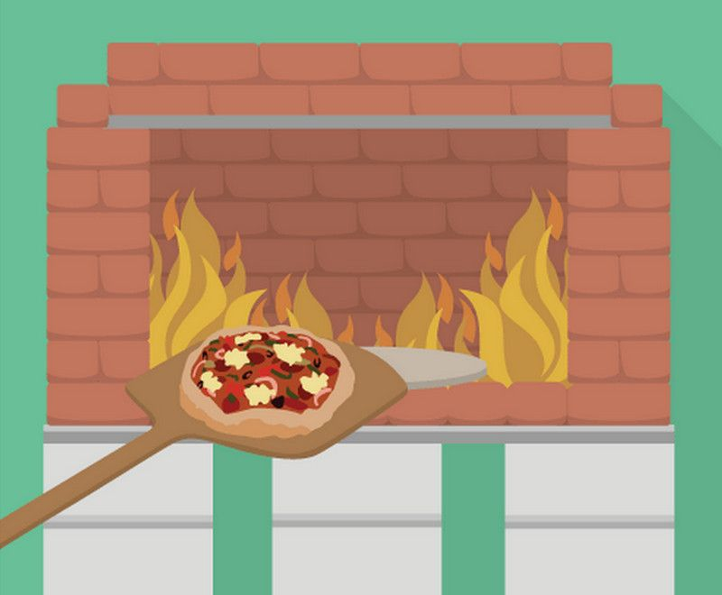 Build a dry stack wood-fired pizza oven comfortably in one day