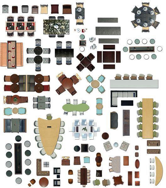 top view tables and