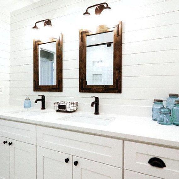 Espresso Mirror, Wood Frame Mirror, Wood Mirror, Bathroom Mirror, Rustic  Mirror, Wall Mirror, Vanity Mirrors, Bathroom Vanity Mirror, Black