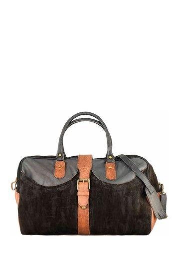 Image of Vintage Addiction Suede & Leather Travel Bag